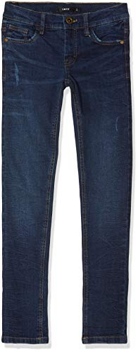 LMTD Jungen Hose NLMPILOU DNMTANDENCE 3089 Pant NOOS, Blau (Dark Blue Denim) (Herstellergröße:164)