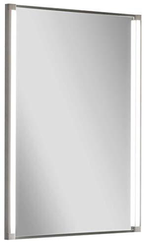 FACKELMANN Spiegel LED-LINE/Wandspiegelelement mit LED-Beleuchtung/Maße (B x H x T): ca. 43 x 67 x 4 cm/hochwertiger Badspiegel/moderner Badezimmerspiegel/Breite 45 cm