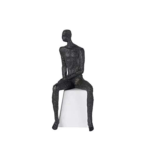 TYX Esculturas De Figuras Modernas, Artesanías Creativas De Mármol De Metal Minimalista, Decoraciones De La Oficina del Club del Hotel En Casa,B