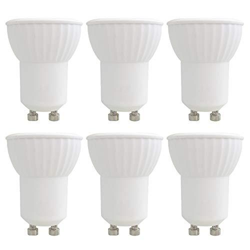 GU10 LED 3W Warmweiß 3000K, Ersatz für MR11 GU10 35W Halogenstrahler, 300LM, 45 Grad, AC 230V, Nicht Dimmbar, MR11 GU10 35mm Deckenstrahler, Einbaustrahler für Küche/Bad, 6er-Set