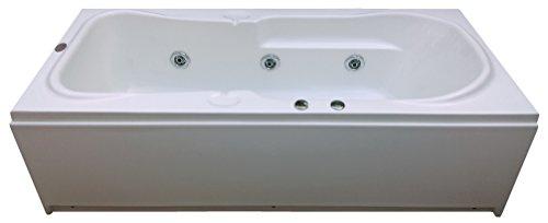 Madonna Rex Acrylic 5.5 Feet Bath Tub with Jacuzzi Massage System (White)