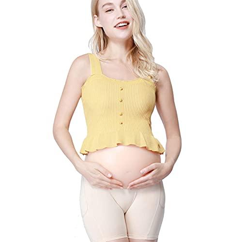 ZLYZS Vientre Falso de Embarazo, Realista de 2 a 10 Meses Vientre Falso Artificial de Silicona, para Accesorios de fotografía de Rendimiento, Rendimiento de Pantalla, Publicidad, etc,XXL