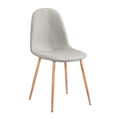 Zons Stockholm stoel, Scandinavisch, van stof, taupe en hout.