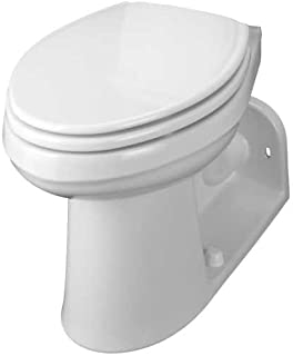 GERBER PLUMBING 21-975 282800 Maxwell Compact Elongated Ergoheight, Back Outlet Siphon Jet Toilet, Bowl