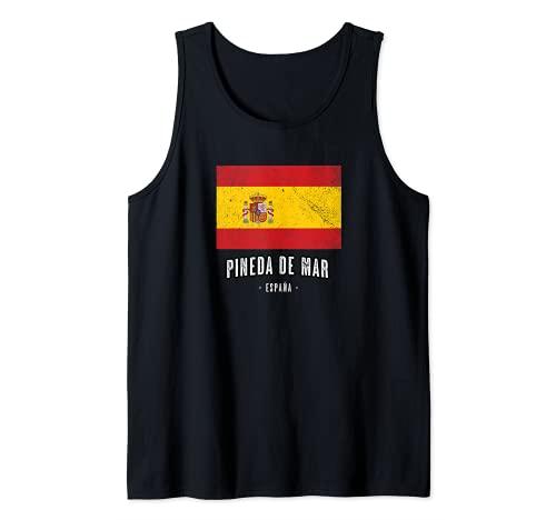Pineda de Mar España   Souvenir Linda Ciudad - Bandera - Camiseta sin Mangas