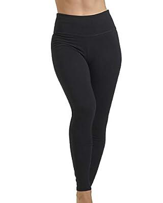 Spalding Women's Misses Activewear High Waisted Cotton/Spandex Full Length Legging, Blk, M
