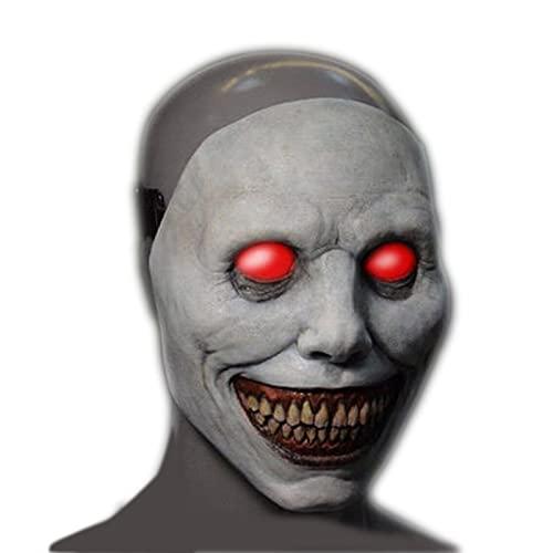 TIANHOO Máscara de Halloween Máscara de Exorcista Máscara de Demonio Sonriente...