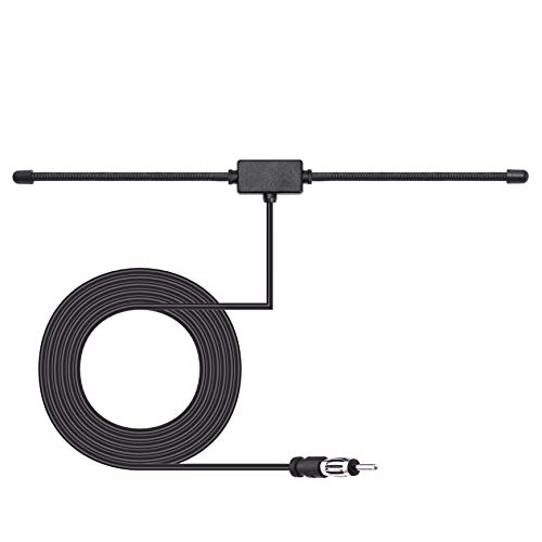 Bingfu Car Antenna Car FM AM Radio Dipole Antenna Adhesive Mount Car Stereo Antenna for Vehicle Truck SUV Car Radio Stereo in Dash Head Unit CD Media Receiver Player Audio Radio Marine Boat Radio