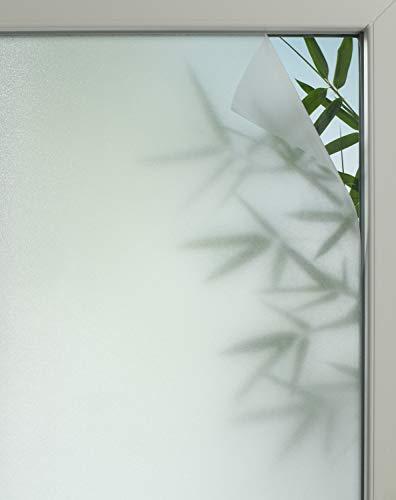 GARDINIA Statische Fensterfolie Privacy 50, Lichtdurchlässig, Zuschneidbar, 100 % PVC, 90 x 150 cm, Halbtransparent