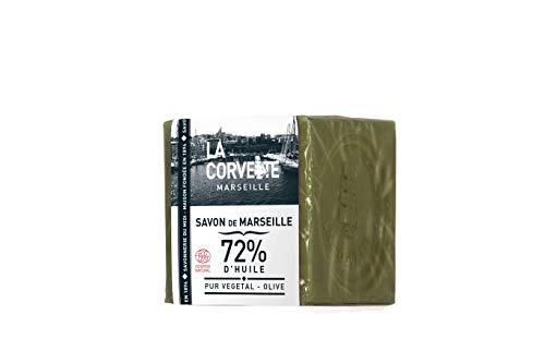 La Corvette Cube de Savon de Marseille Olive Ecocert Film 200 g