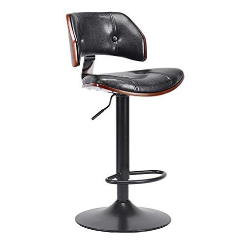 LINGZHIGAN Chaise de bar pivotante Chaise de bureau rétro Tabouret de bar Tabouret haut simple (Couleur : A)