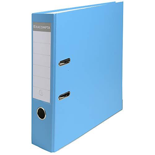 Exacompta 918412B Premium Ordner (PP, 2 Ringe, Rücken 80 mm, DIN A4) 1 Stück hellblau
