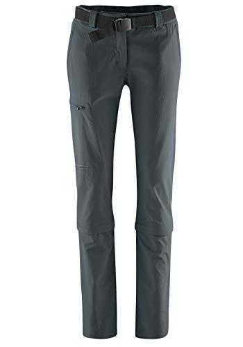 maier sports Pantalon capri Convertible en Arolla 90% en PA 10% EL dans 24 Tailles, pantalon Outdoor/Pantalon de randonnée/Capri Pantalon ceinture inclus, bi-élastique, séchage rapide et imperméable, protection UV XL graphite