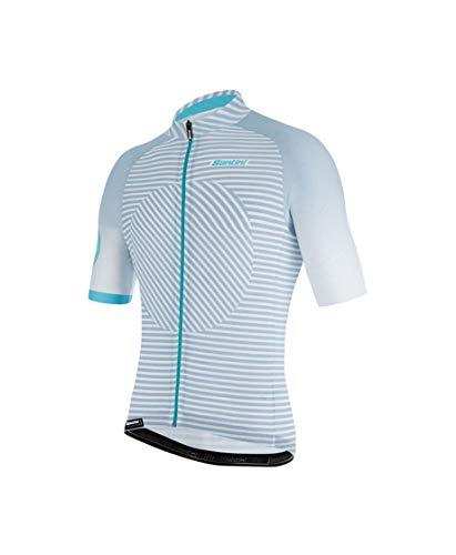 Santini Fahrradbekleidung für Herren, Sommertrikot Karma Mille, Herren, silber, M