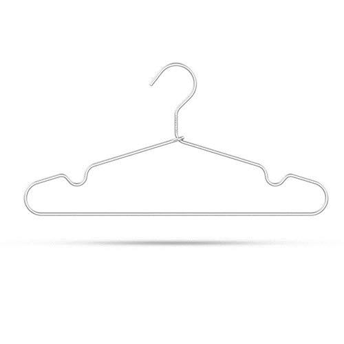 Subobo kledinghaken, 8 stuks, duurzaam, aluminiumlegering, zilverkleurige haken, eenvoudig en comfortabel te bedienen
