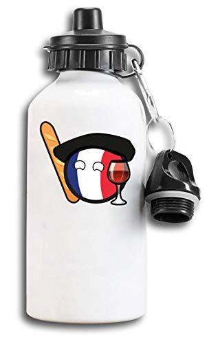 Iprints Franse Minimalistische Baguette En Wijn Toeristische Water Fles