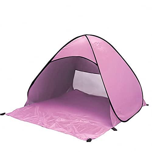 BIANGEY Tienda de Playa, Cubierta de Refugio portátil Plegable de Sol, a Prueba de Viento, Impermeable, instalación rápida, Equipo para Camping al Aire Libre, 145x165x110cm,D