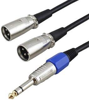 Gotor 6.5mm⇔XLRオスx2 スピーカー/ミキサー/マイクケーブル オーディオ延長ケーブル XLRキャノンオス*2-6.35MMオス (30M)