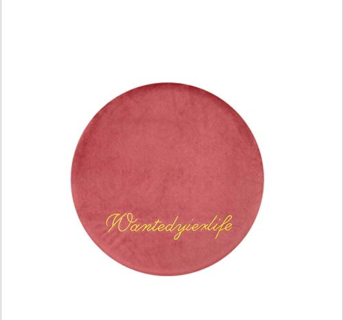 DUIPENGFEI Japanese-style velvet cushion, breathable office chair cushion, bay window cushion, round memory foam padded sofa cushion, 40 * 40 * 4.5cm, lotus root pink