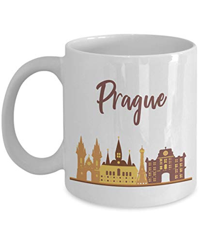Lustige Prager Tasse Lustige Tee-heiße Kakao-Kaffeetasse Neuheit Geburtstag Weihnachten Jubiläum Gag Geschenkidee, 313 ml, weiß