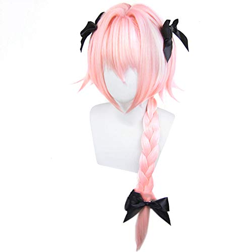 Elibeauty Fate/Apocrypha Cosplay Wig, Anime Astolfo Hair Wigs Party Decoration or Cosplay Costume Wig Best Gift for Kids, Girls, Teens, Adults and Anime Fans