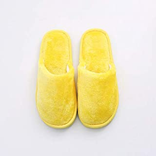 KUNYIXIAN Men Slippers House Shoes Floor Candy Color Home Shoes Bedroom Flats Women Slippers Indoor Slip On Furry Shoes