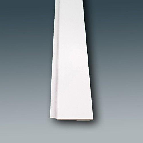 Fensterleiste Flachprofil PVC mit Lippe selbstklebend 30mm breit 3m lang Abdeckleiste