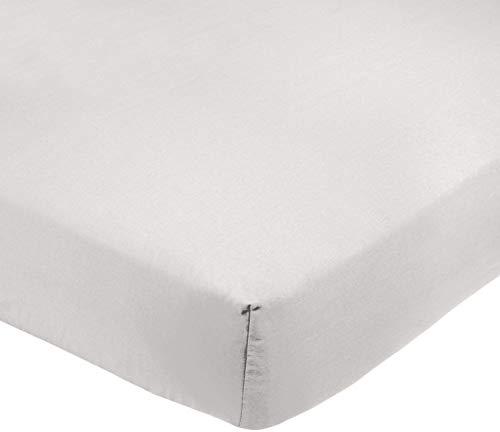 Amazon Basics AB 200TC Poly Cotton, Combinación de algodón, Blanco, 140 x 200 x 30 cm