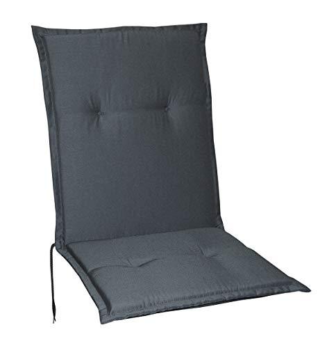 Schwar Textilien Gartenstuhlauflagen Stuhlauflagen Sitzauflagen Auflagen Niedriglehner 5 Farben (Grau)
