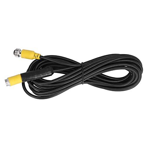 Jopwkuin Cable de extensión de Video, 5 m / 16,4 pies Cable de extensión de Video a Prueba de Agua de 4 Pines para camión, Remolque, autobús, Autocaravana