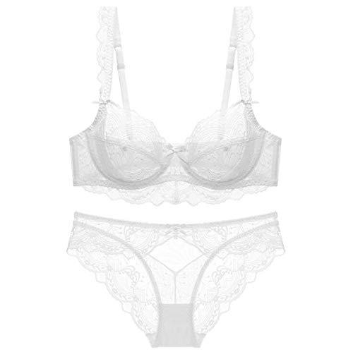 Women's ondergoed, sexy kanten beha set, hoge elastische ademend ultra-dunne ondergoed,D,70E