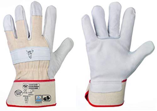 HandschuhMan. Arbeitshandschuhe aus weichem Rindvollleder Stierkopf von StrongHand Gr. 8-13 (13)
