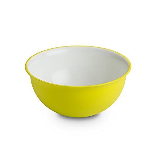 Omada Design Tazón de 0.5 lt, 13.5 cm de diámetro, blanco por dentro y coloreado por fuera, en polipropileno y Microban antibacteriano