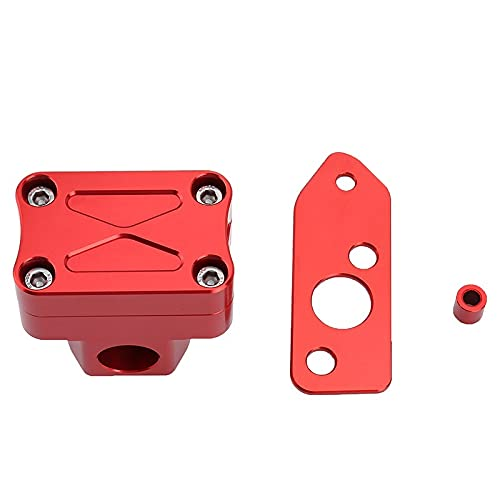 YLHAPPY Soporte de Manillar Post Clamp Riser CNC para Honda Ruckus Zoomer Scooter NPS50 2003-2012 Handle Bar Risers Parts Multicolor (Color : Red)