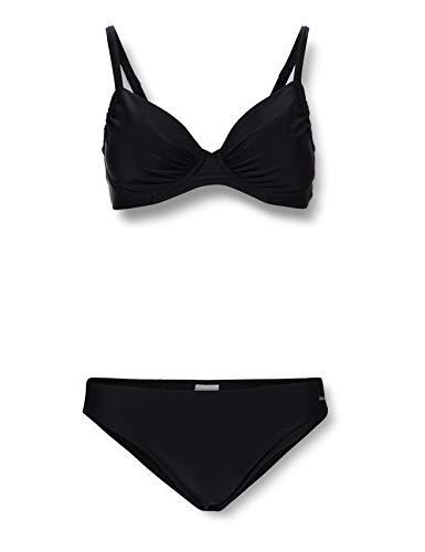 Palm Beach Damen NOS Bikini-Set, Schwarz (Schwarz 1000), 36 (Herstellergröße: 36D)