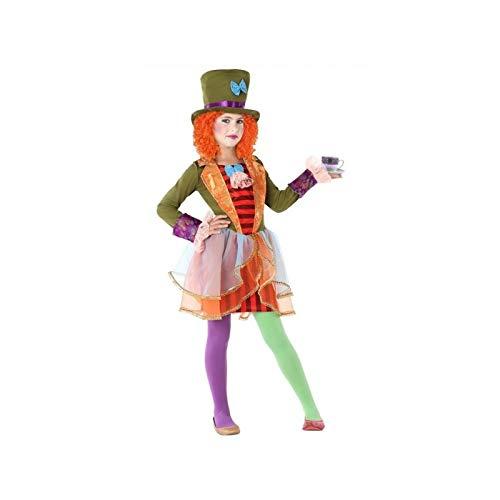 Atosa-61297 Atosa-61297-Disfraz Sombrerera Loca-Infantil Niña, Multicolor, 7 a 9 años (61297