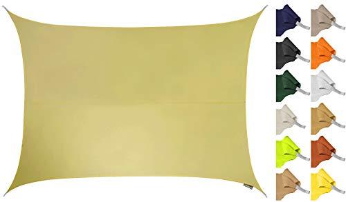 Kookaburra Sonnensegel Wasserabweisend 4,0m x 3,0m Rechteck Sandfarben
