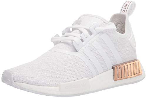 adidas Originals Damen NMD_r1 Sneaker, Weiß/Weiß/Kupfer-Metallic, 6 US