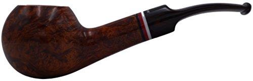 GERMANUS Pfeife Handgemacht aus Deutschland - Made in Germany - gebogene Tabakpfeife aus Bruyere, Rhodesian, Modell: Metz