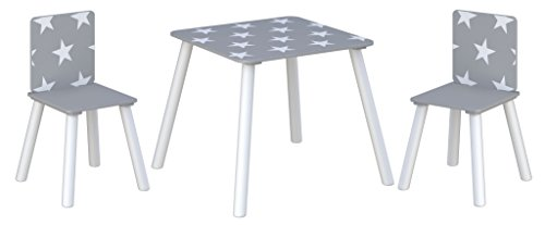 Kidsaw Star Table & Chairs - Grey