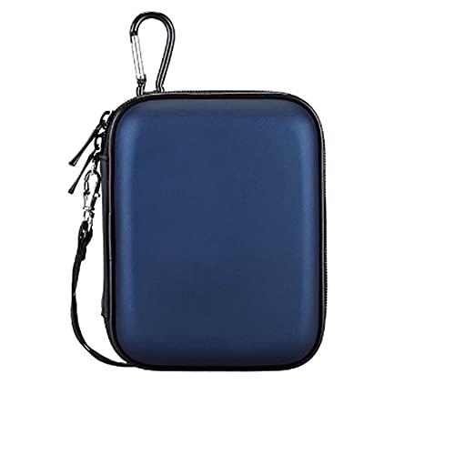Custodia da viaggio per cavi, piccola borsa per gadget, custodia portatile per accessori elettronici, custodia rigida EVA per adattatori, power bank, auricolari, hard disk, blu