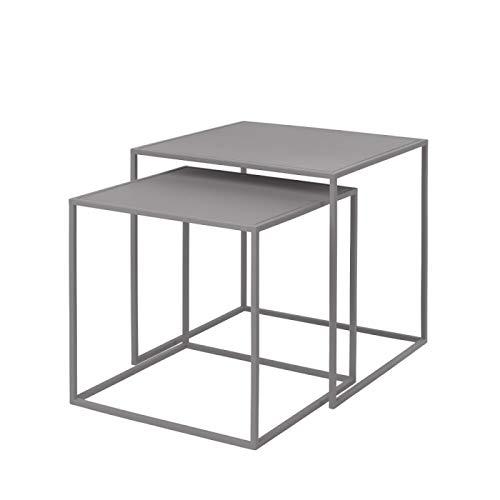 Blomus Unisex– Erwachsene Set 2 Beistelltische-65989 Beistelltische, Mourning Dove, One Size