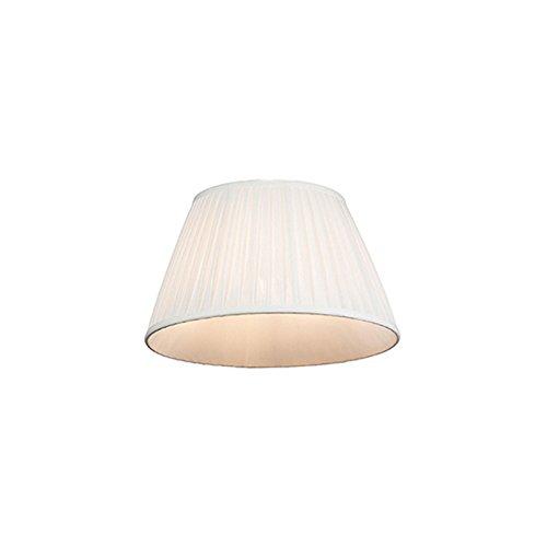 QAZQA Retro Seide Plissee Lampenschirm weiß 35 20 cm, Rund konisch Schirm Pendelleuchte,Schirm Stehleuchte