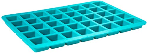 V-fox 40-Cavity Square Caramel Candy Silicone Molds, Chocolate Truffles, Ganache, Hard Candy, Praline, Ice Cube Tray and Gummy Jelly