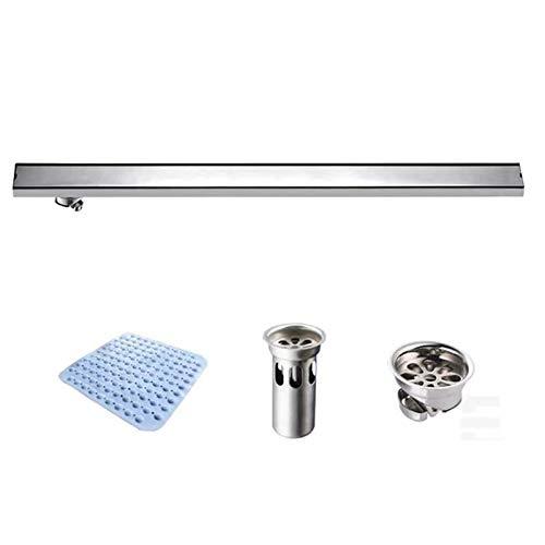 GL-bathroom Edelstahl Duschrinne Badezimmerboden Linear Unsichtbar Rechteckige Duschrinne Fliesen , Länge 60cm