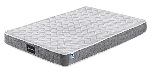 Xeo Home Quality Sprung Mattress with Memory Soft Quilting Foam Top - Bonnell Springs, Cotton Felt Firm Mattress Hypoallergenic Non-Woven Knitted Fabric (Single)