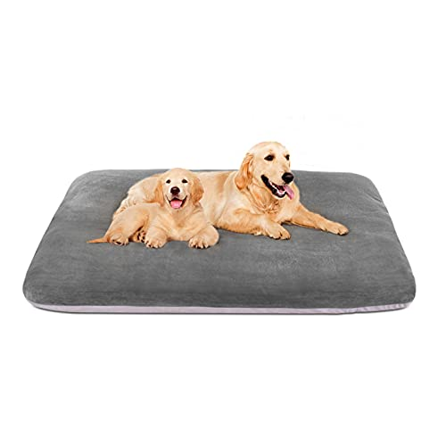 Magic Dog Super Soft Extra Large Dog Bed Orthopedic Pet Beds 47 Inch Jumbo Washable Anti Slip Dog Sleeping Mattress with Removable Cover, Light Grey XL