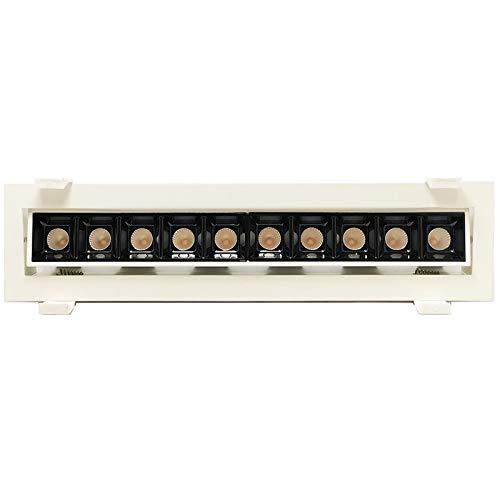 Laser Blade LED-Einbaustrahler, schwenkbar, 20 W, 3000 K, warmes Licht, 1600 lm, Weiß/Schwarz