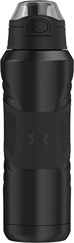 Under Armour Dominate 24 Ounce Stainless Steel Water Bottle, Smoke