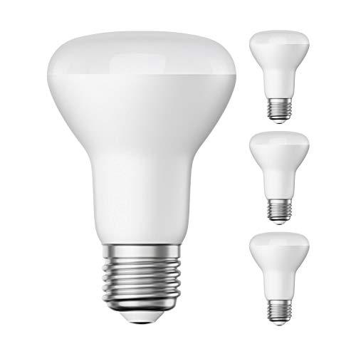 ledscom.de E27 R63 LED Reflektor-Strahler 8W =52W 670lm warm-weiß A+ für innen und außen, 4 Stk.